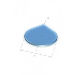 Vloerplaat druppelvorm glas