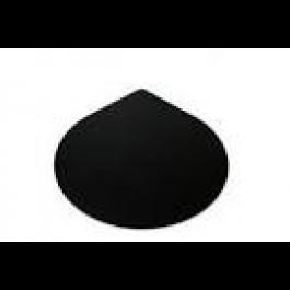 Vloerplaat druppelvorm zwart